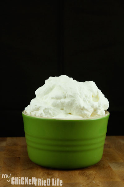 Homemade Whipped Cream - My Chicken Fried Life