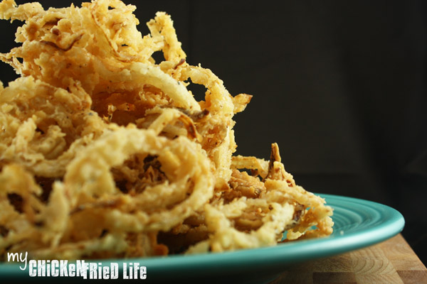Onion Strings - My Chicken Fried Life