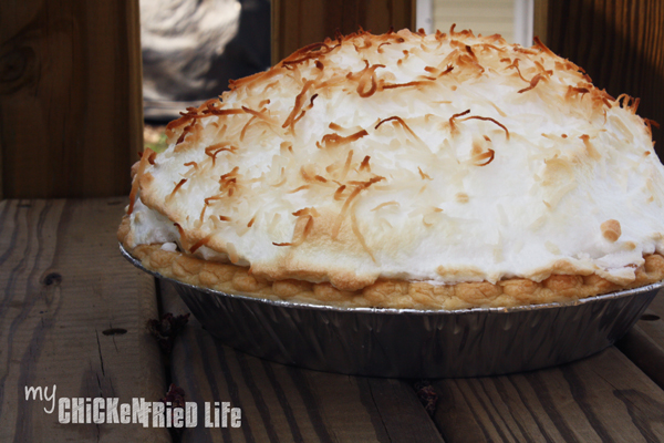 Coconut Custard Pie - My Chicken Fried Life
