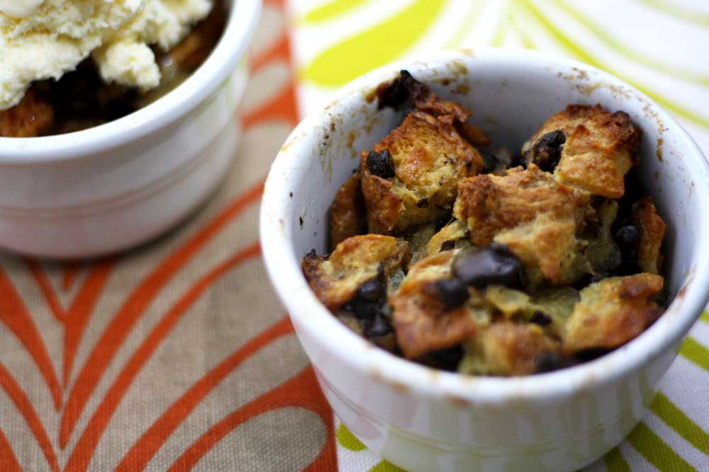 Chocolate Croissant Bread Pudding - My Chicken Fried Life